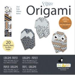 Funny Origami Eulen 15 x 15 cm