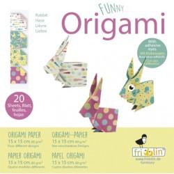 Funny Origami Hasen 15 x 15 cm