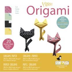 Funny Origami Katzen 20 x...