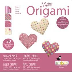 Funny Origami Herzen 20 x...