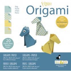 Funny Origami Hunde 20 x 20 cm