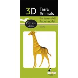 3D Papier Modell Giraffe