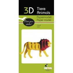 3D Papier Modell Löwe