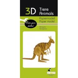 3D Papier Modell Känguru