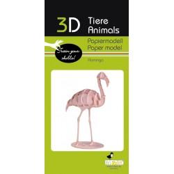 3D Papier Modell Flamingo