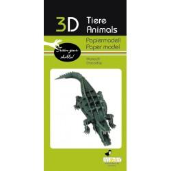 3D Papier Modell Krokodil