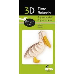3D Papier Modell Pelikan