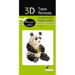 3D Papier Modell Panda