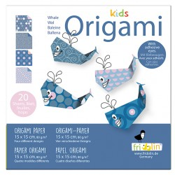 Kids Origami Wale 15 x 15 cm