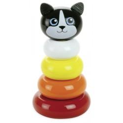 Stapelpyramide Katze Minou