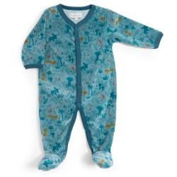 Pyjama Velours blau 6 Monate