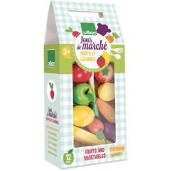 Früchte und Gemüse Set
