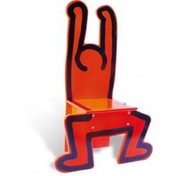 Stuhl Keith Haring rot