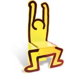 Stuhl Keith Haring gelb