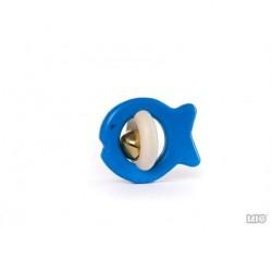 Rassel Fisch blau