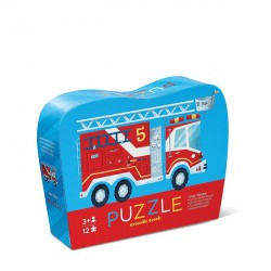 12 pc Mini Puzzle Fire Truck