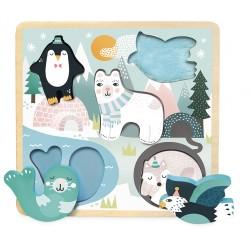 Puzzle Tiere im Eis...