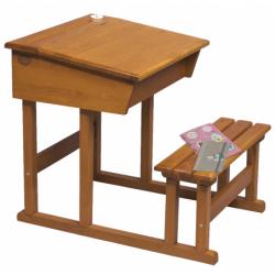 Schulbank / Pupitre en bois