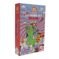 3D Colouring Sets Sci-Fi Fun